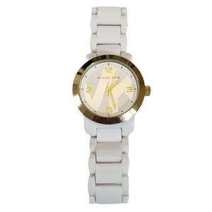 Michael Kors MK4233 Gold Tone White Bracelet Watch